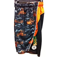 Lax Flow Smoke Orange Black Performance Mesh Short Adult (medium)