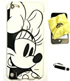 Bukit Cell Disney Minnie Mouse (Minnie Sketch) Flexible TPU Skin Protector Case Cover for Apple Ipod Touch 5th Generation (Itouch 5 5g) 32gb 64gb + Bukit Cell Lint Cleaning Cloth + Metallic Touch Screen Stylus PEN with Anti Dust Plug