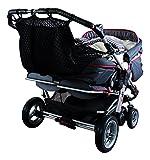 Sunnybaby 850120519 Kinderwagen-Einkaufsnetz für Zwillingswagen mit Sichtschutz