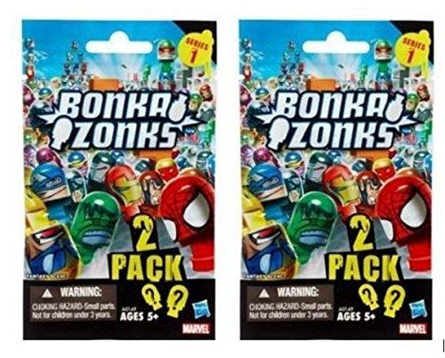 Two Blind Packs of Marvel Bonkazonks - Each pk has 2 Bonkazonks and 1 Game Code - 1