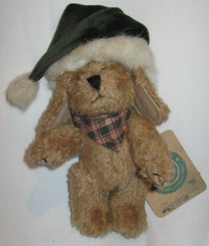Boyd's Bears Plush Indy in Green Santa Hat Archive Collection 91757-10 - 1