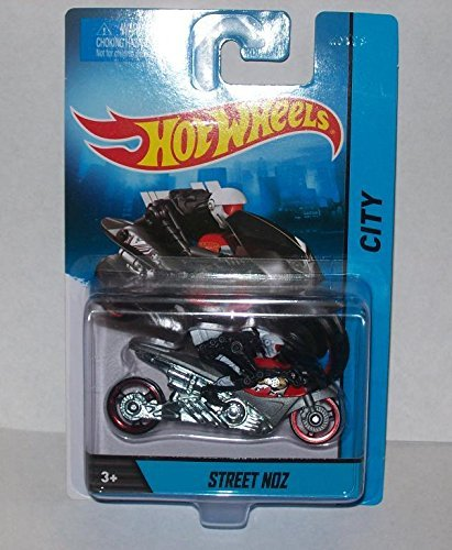 Hot Wheels HW City Street NOZ Motorcycle with Rider Die-cast Collectible