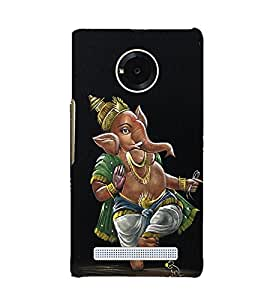 Fuson Premium Back Case Cover Lord Ganesha With Multi Background Degined For YU Yuphoria::Micromax Yuphoria YU5010