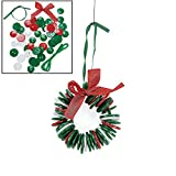 Oriental Button Wreath Ornament Craft Kit, Pack of 12