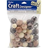 Darice 0500-03 45-Piece Assorted Wood Beads
