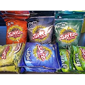 Spitz Sunflower Seeds 6oz-12ct Box 6-flavor 2-each Bbq, Cracked Pepper