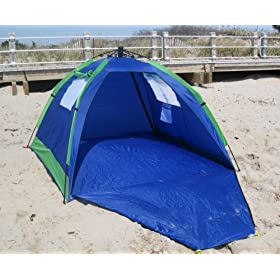 ABO Gear Instent MAX Pop-Up Beach Shelter SPF 50 - Limited Sports Edition w/BONUS Beach Bag