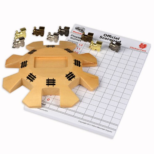 YMI Mexican Train / Chicken foot Domino Wooden Centerpiece Hub Kit - 1