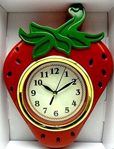 Decorative Strawberry Wall Clock (Strawberry Kitchen compare prices)