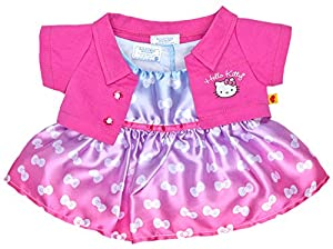 com: Build a Bear Hello Kitty Pink Jacket Bow Dress 2 pc. Outfit Teddy ...