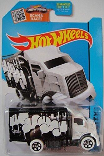 Hot Wheels, 2015 HW City, Hiway Hauler 2 [White Cab/Black Trailer] Die-Cast Vehicle #28/250