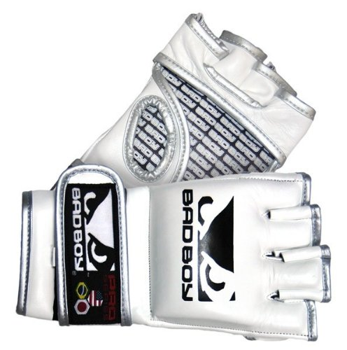 Bad Boy Men's MMA Glove Pro Series - White, Large/X-Large
