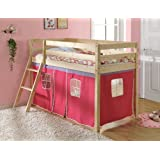 Shorty Cabin Bed with Pink Tent , Midsleeper Ontario 2'6