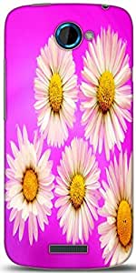 Snoogg Daisies Designer Protective Back Case Cover For HTC One S