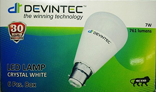 Devintec-7W-LED-Bulb-(Cool-White,-Set-Of-6)