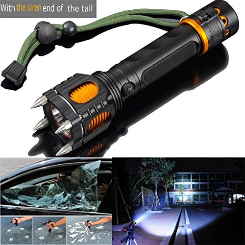 New-2000LM-6-Modes-Tactical-Self-Defense-Audible-Alarm-Cree-XM-L-T6-LED-Flashlight-Aluminum-Alloy