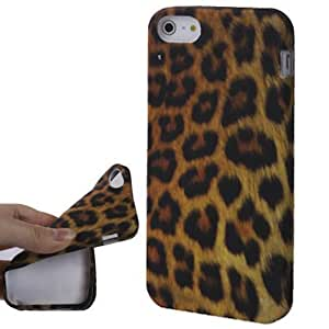 JUJEO Yellow Leopard Series TPU case for iPhone 5/5S - Non-Retail Packaging - Yellow