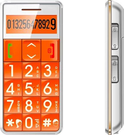 Seniorenhandy Großtastenhandy SOS Notruf - SMS LED MP3 Weiß Avcibase