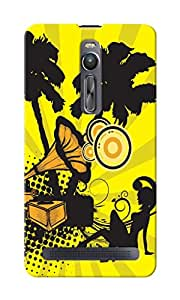 KnapCase Gramophone & Girl Designer 3D Printed Case Cover For Asus Zenfone 2