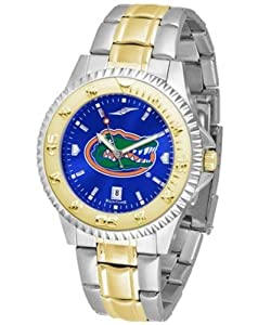 Florida Gators UF NCAA Mens Two-Tone Anochrome Watch by SunTime