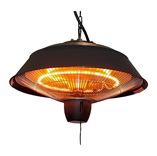 Ener-G+ Infrared Outdoor Ceiling Electric Patio Heater, Hammered Brown (Outdoor Heater Tower compare prices)