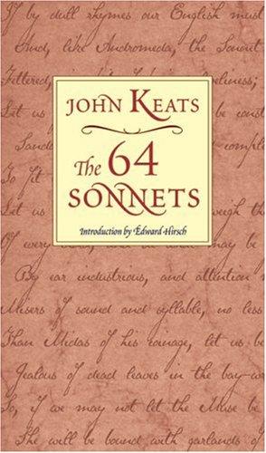 The 64 Sonnets, JOHN KEATS