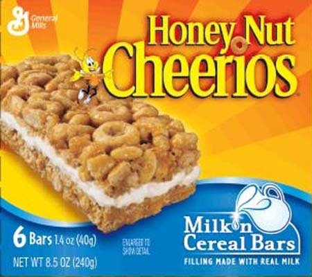Cheerios Honey Nut , Milk 'n Cereal Bars, 6-Count Boxes (Pack of 10 ...
