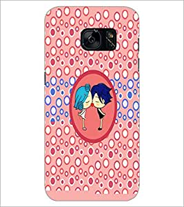 PrintDhaba Couple D-5863 Back Case Cover for SAMSUNG GALAXY S7 (Multi-Coloured)