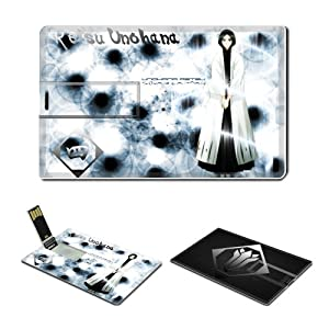16GB USB Flash Drive USB 2.0 Memory Stick Anime Comic Game BLEACH BLEACH RETSU UNOHANA Credit Card Size Customized Support Services Ready Japanese manga series episodes collection portable flash drive gift ideas (Retsu Unohana 0708)