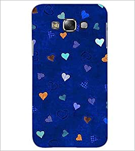 PrintDhaba Heart Pattern D-1471 Back Case Cover for SAMSUNG GALAXY A8 (Multi-Coloured)