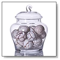 Clear Glass Apothecary Jar with Lid