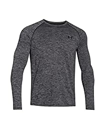Men\'s Under Armour Tech Patterned Long Sleeve T-Shirt, Black (001), X-Large