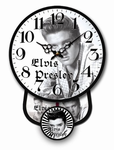 Tinas Collection WANDUHR NEU ELVIS PRESLEY MINI PENDELUHR NEUES DESIGN QUARZUHR UHR - Tinas Collection - das etwas andere Design