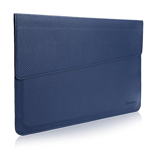 MacBook 13.3 Universale Sleeve, Evecase Sottile in Pelle Premium Custodia Portatile per 13.3 pollici MacBook Air / MacBook Pro / Retina / iPad Pro - Blu