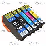 5 Ink Cartridges Compatible For Epson Expression Premium XP-600 XP-605 XP-700 XP-800