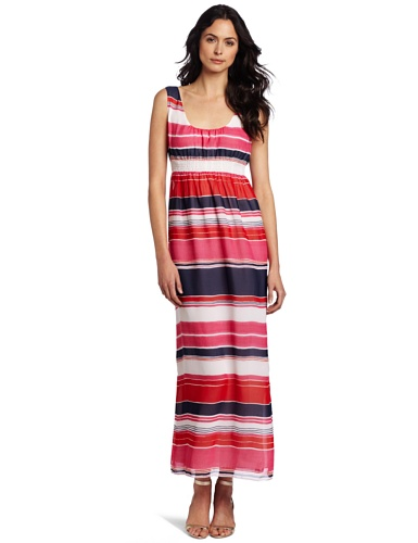 Cheap Vince Camuto Women's Watercolor Stripe Maxi Dress