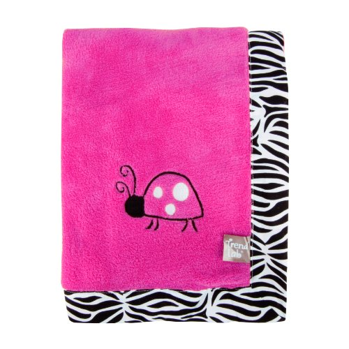 Trend Lab Zahara Zebra Framed Receiving Blanket, Pink