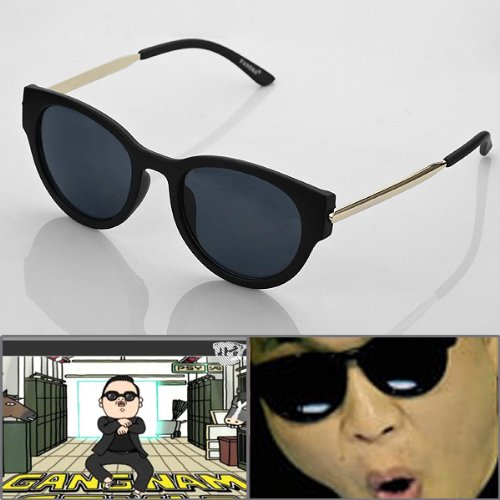 Hot PSY Gangnam Style UV400 Black Sunglasses Glasses For Dancing Ball Party Show
