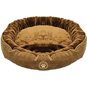 Mool Circular Cushioned Dog Bed, Width: 70 cm (28 inches), Two Tone Brown