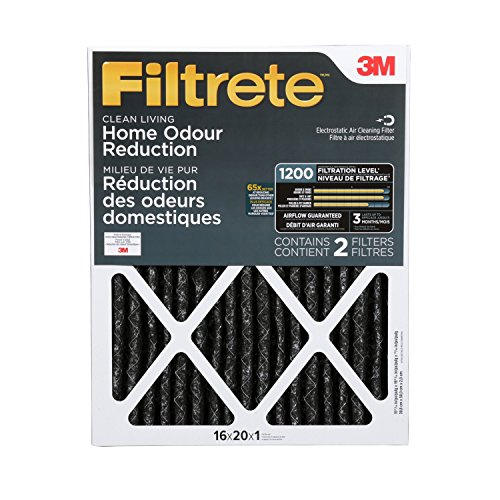 Filtrete Allergen Defense Odor Reduction Filter, MPR 1200, 16 x 20 x 1-Inches, 2-Pack (20x20 Air Filter Filtrete compare prices)