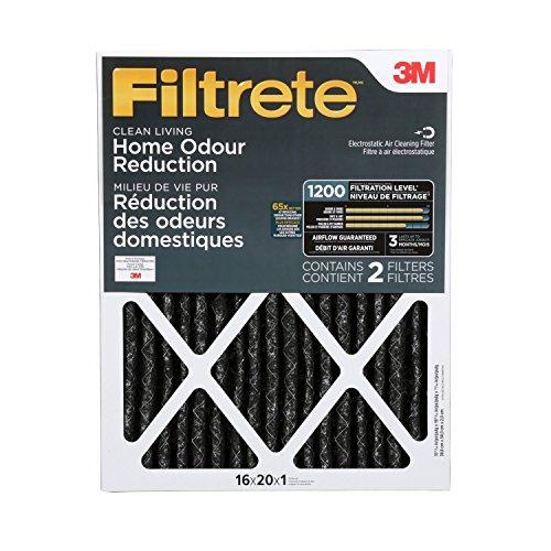 Filtrete Allergen Defense Odor Reduction Filter, MPR 1200, 16 x 20 x 1-Inches, 2-Pack (20x20x1 Air Filter Filtrete compare prices)