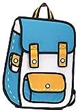 【ELEEJE】イラストのようなバッグ チーズバッグ オリジナル クリアファイル セット (リュック ブルーB)