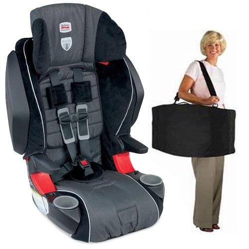 Britax  Frontier 85 SICT Combination Harness2Booster in Onyx with a car seat Travel Bag