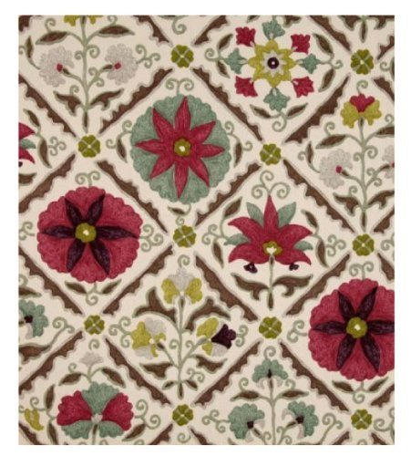 P Kaufman Fabric for Upholstery Suzani Cherry 54