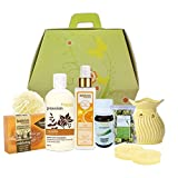 BodyHerbals Beautiful Day Spa Hamper (Vanilla shower gel with skin conditioners 200ml, Orange Natural Moisturising Body Lotion 200ml, Vitamin- C Skin Booster 200 ml, Lemongrass Bathing Bar with Natural Loofah 100g, Aroma Diffuser (Design may vary), Bath Puff, Lemon Grass Potpourri 30g, Lemon Grass Diffuser Oil 10ml, 2- T lights) Beauty, Skin Care, Spa Set
