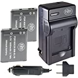 BM Premium ENEL19 Battery & Charger Kit for Nikon Coolpix S32, S100, S3100, S3200, S3300, S3500, S3600, S4100, S4200, S4300, S5200, S5300, S6400, 2 PACK