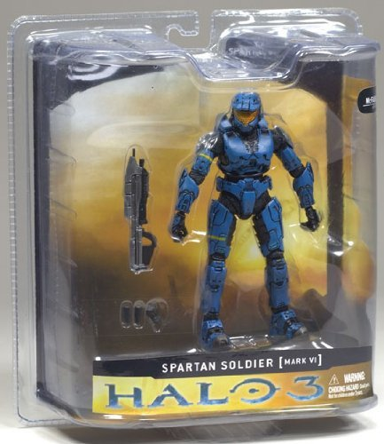 McFarlane HALO3 (Halo 3) Series 1 / Exclusive Blue Spartan Soldier Mark VI Armor