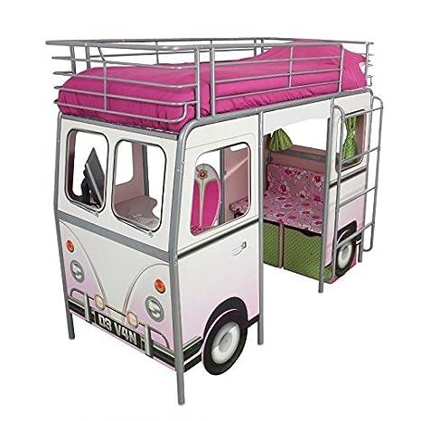 Cama Caravana Rosa 90 x 190 cm