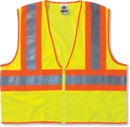 Images for GLoWEAR 8229Z Economy Class-2 Two-Tone Vest, Lime, Large/X-Large