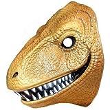 Brown Dinosaur Plastic Face Mask